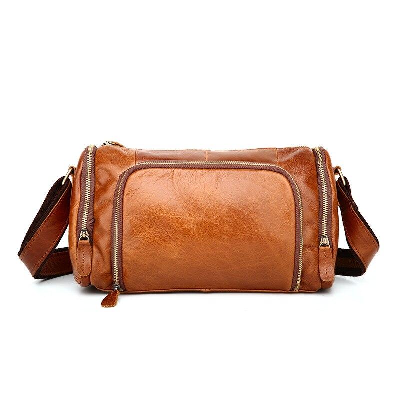 Vintage 100% garantie peau réelle en cuir de vachette véritable petits hommes Messenger sacs # M349-in Bandoulière Sacs from Baggages et sacs    1