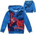 Liquidación ropa de los muchachos niños sudaderas chaquetas abrigos con capucha historieta de los bebés niños tops niños chaqueta deportiva niños clothing