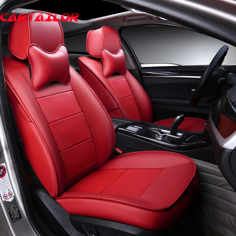 CARTAILOR Genuine Leather Cover Seat Car Styling for Toyota Venza Car Seat Covers & Supports Custom Fit Seat Cover Protector Set coverking front 50 50 bucket custom fit seat cover for select chevrolet monte carlo models genuine leather black