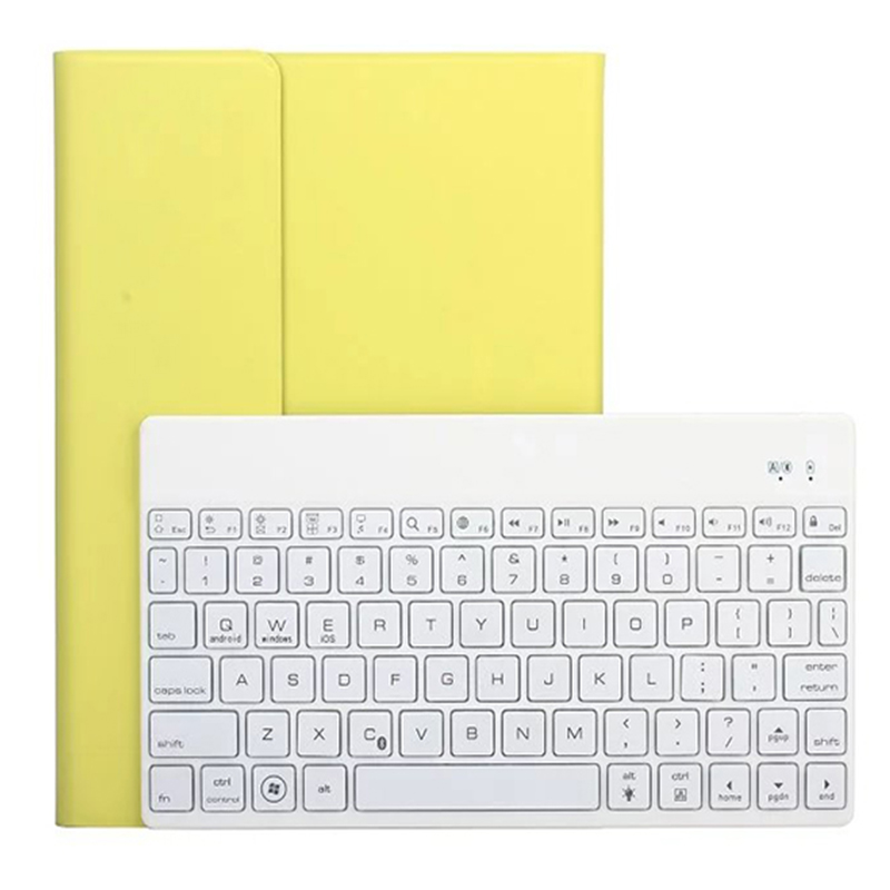 ocube PU Leather Smart Case Cover 7 Color Backlight Aluminum Keyboard Case Cover For Apple iPad air 2 iPad 6