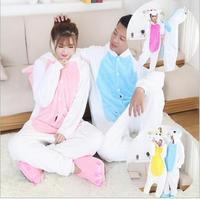 New Pajama Flannel Unicorn Cartoon Cosplay Costume Adult Unisex Homewear For Adult Animal Pajamas Adult Unicorn