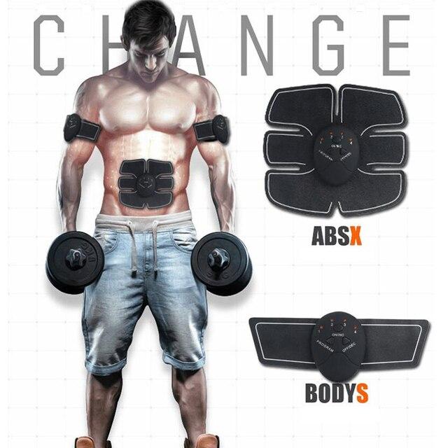 Estimulador muscular inalámbrico EMS estimulación de adelgazamiento de cuerpo músculo Abdominal ejercitador Dispositivo de entrenamiento de la máquina de la belleza del cuerpo