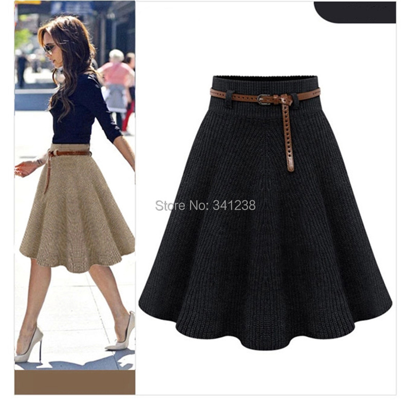 New 2015 Spring Winter Smart Midi Long Women Girls Skirts High ...