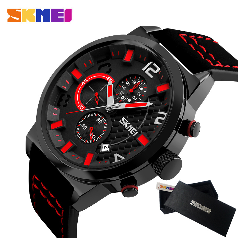 SKMEI Fashion Chronograph Sport Mens Watches Top Brand Luxury Quartz Watch Reloj Hombre 2017 Clock Male hour relogio Masculino mens watch top luxury brand fashion hollow clock male casual sport wristwatch men pirate skull style quartz watch reloj homber