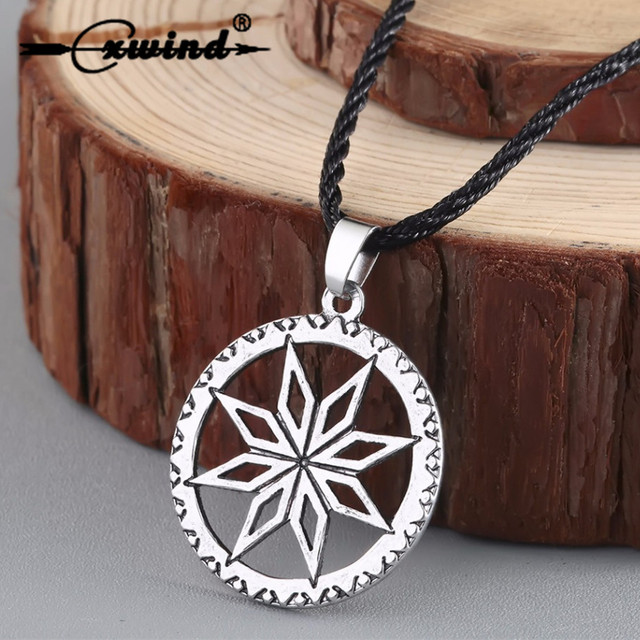 Cxwind Alatyr In The Circle Necklace Pendant Ethnic Jewelry Viking