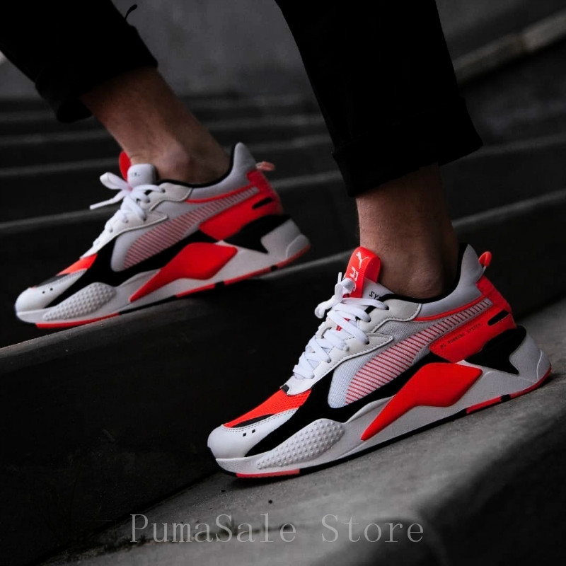 ea0e11b93fc3 PUMA RS-X Toys Transformer Men Women Badminton Shoes Reinvention RS System  Cushioning Sneaker 369579-02 Retro Dad Shoes EUR36-45