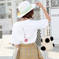 T shirt women Pink Panther printing loose casual harajuku T shirt Short Sleeves tshirt Tops Tee plus size shirt YDC1