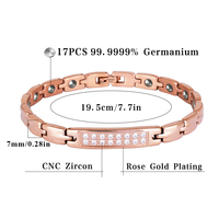 Hottime 17 PCS 99.9999% Germanium Bracelet Hologram Energy Health Bracelets Bangles Anti Tumor and Treatment Of Senile Dementia