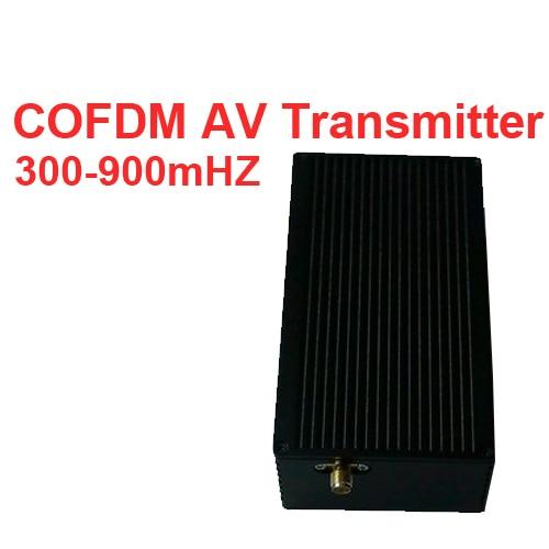 NLOS Transmitter Video COFDM Av Transceiver Portable Video Transmitter Image Transmission Image Transmitter 300-900mhz For Drone