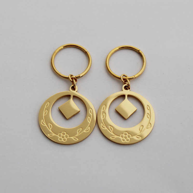 New Design Stainless Steel Kiribati Island Gold Earrings For Women