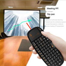 For Android Box, PC, Smart TV,HTPC IPTV: Genuine New Russian Rii Mini i10 K10 2.4GHz Wireless Multimedia Keyboard Touchpad Mouse
