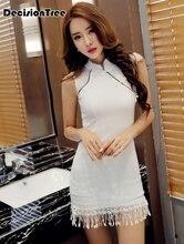 2019 silk satin traditional chinese dress women short sleeves vestidos vintage qipao sexy cheongsam flower print