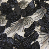 1 Meters Black Lace Mesh Ribbon Flower Gold Sequined Net Yarn Flower Embroidery DIY Clothing Fabric