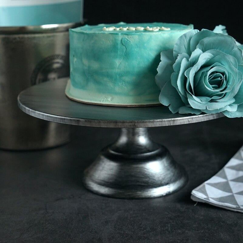 Support de gâteau en argent de 12