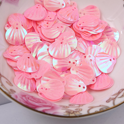 1000pcs/lot  13mm Shell sequins 2holes Lt Pinkt colors Jewelry Accessories cloth crafts confetti clothing