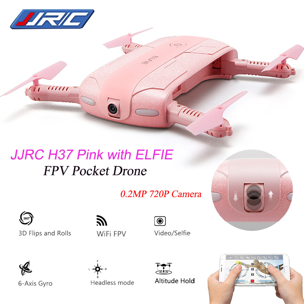 Camera Drone Original JJRC H37 6-Axis Gyro ELFIE 2.0MP WIFI FPV Camera Quadcopter Foldable G-sensor Mini RC Selfie Drone jjrc h37 elfie rc quadcopter foldable pocket selfie drone with camera