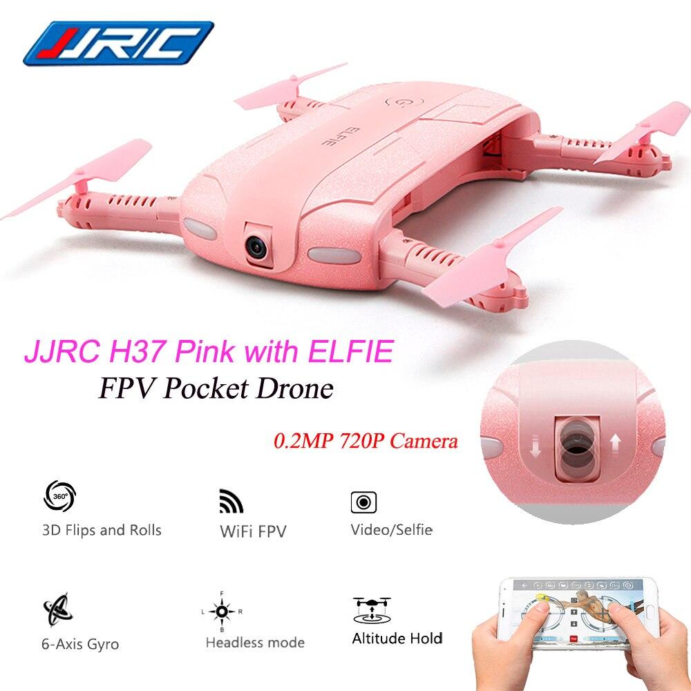 Camera Drone Original JJRC H37 6-Axis Gyro ELFIE 2.0MP WIFI FPV Camera Quadcopter Foldable G-sensor Mini RC Selfie Drone jjrc h47 mini drone with 720p hd camera elfie plus g sensor control foldable rc pocket selfie dron wifi fpv quadcopter helicopte