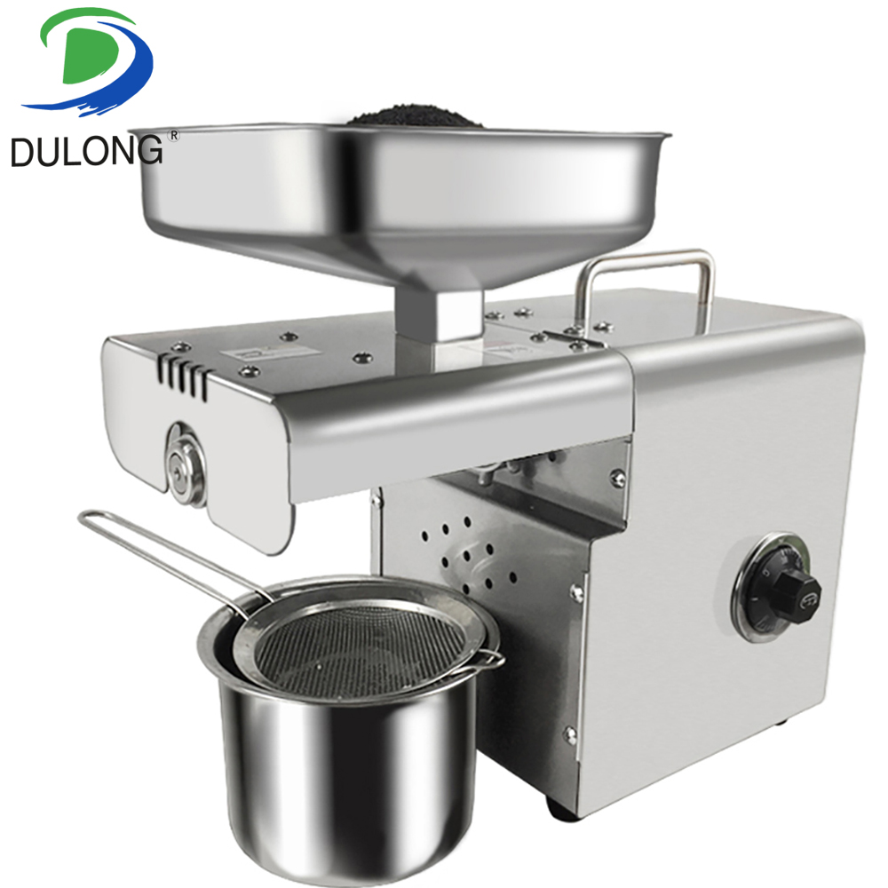 Household Oil Press Stainless Steel Oil Press Machine 350W Press Oil Machine Peanut/Sesame Presser 220V/110V Available jiqi automatic industrial oil press machine press preheat oil presser 220v 110v peanut soybean high extraction rate household