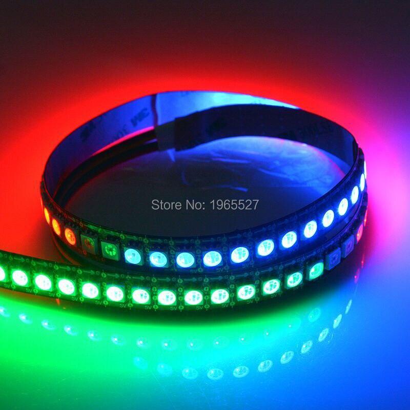 5 в 144 светодиодный s/m HD107S пиксель RGB Светодиодная лента, 6Pin 5050 SMD RGB светодиодный Встроенный HD107S (аналогичный APA102/APA107) с данными и часами - 6