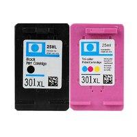 2pcs Compatible Hp 301 Ink Cartridges For HP Deskjet 1000 1010 1050 1050A 1510 1512 1514