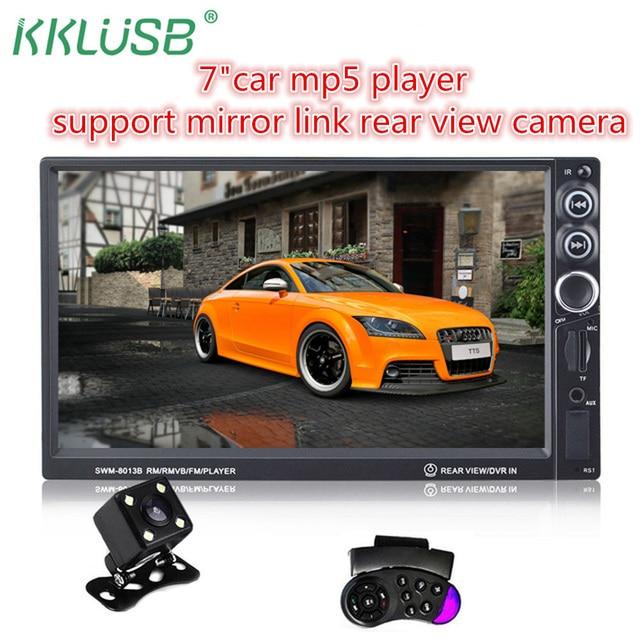 Автомагнитолы 2 Din вообще автомобиль 7 ''дюймовый сенсорный ЖК-экран автомагнитолы стерео-плеер Bluetooth Car Audio Поддержка сзади камера заднего вида USB