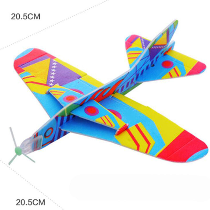 Kids Plane Toy Foam Paper Airplane Model Magic Roundabout Combat Aircraft Hand Throw Flying Glider Planes Toys For Children image