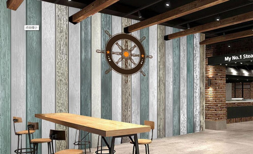 Custom retro wallpaper,Mediterranean-style vertical stripes wood,3D photo mural for living room bedroom restaurant PVC wallpaper beibehang shop for living room bedroom mediterranean wallpaper stripes wallpaper minimalist vertical stripes flocked wallpaper