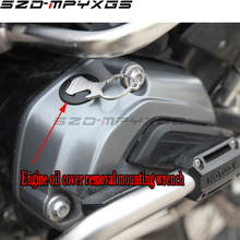 Engine Oil Filter Cup Plug Cover Screw Oil Drain Plug Removal Installer Wrench Tool For BMW R1200GS LC R 1200 GS LC Adventure 76mm x 14 flutes laser oil filter wrench cup tool 3117 for audi bmw mercedes vw porsche