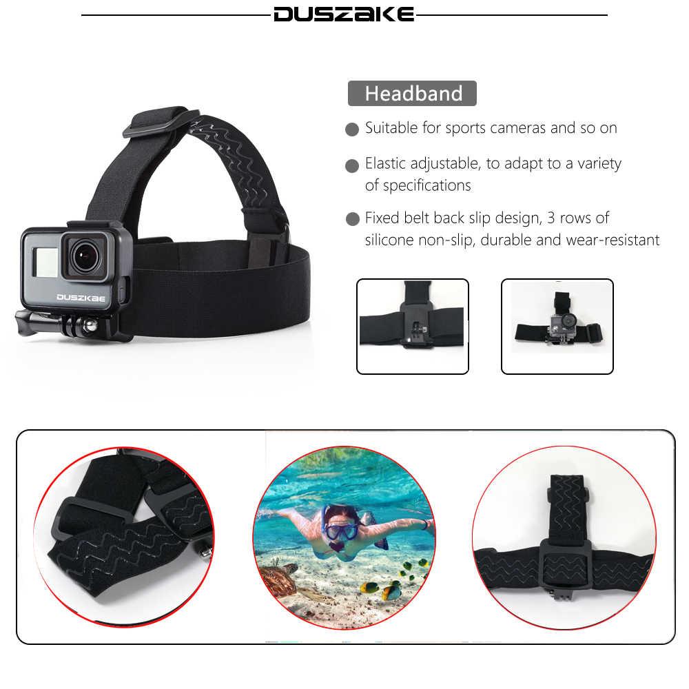 Duszake аксессуары для Gopro Hero 5 мини монопод нагрудный ремень на голову крепление для Gopro Xiaomi Yi 4K SJ4000 Экшн-камера