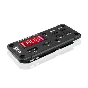Image 4 - Bluetooth 5.0 מקלט לרכב MP3 נגן מפענח לוח צבע מסך FM רדיו TF USB 3.5 Mm AUX אודיו עבור iphone XS