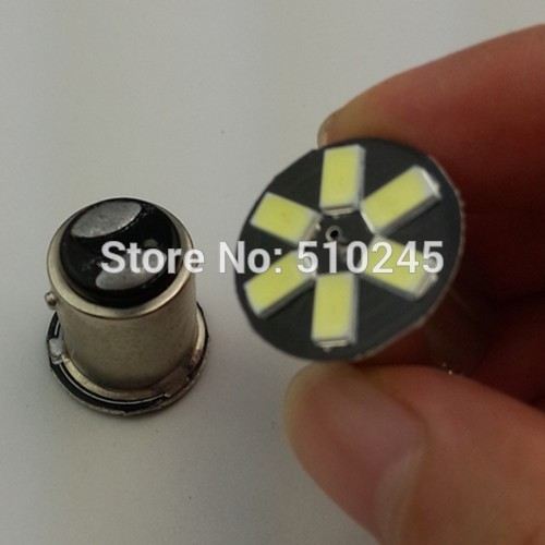 10X new products hot sales Car led lamp 6smd s25 t20 P21W 1156 1157 7440 7443 BA15S BAY15D 6 LED SMD 5630 5730 turn brake bulb