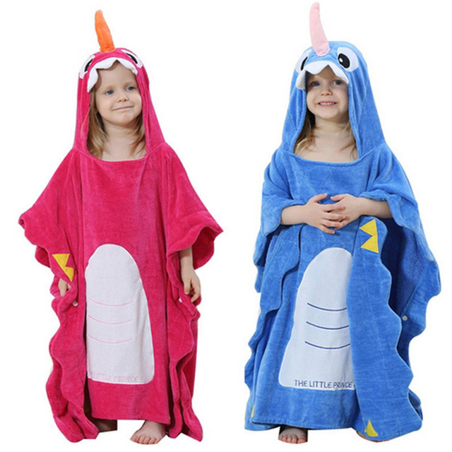 a1db7456f8 Baby Bathrobe Hooded Animal Cartoon Cute Infant Towel Unicorn Pajamas Boys  Girls Coral Bath Robes Toddler