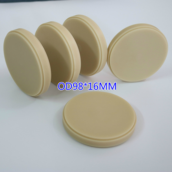 10 pieces PMMA Discs Dental Lab Temporary Tooth Bridge Materials Block Blank Disk OD98X16MM