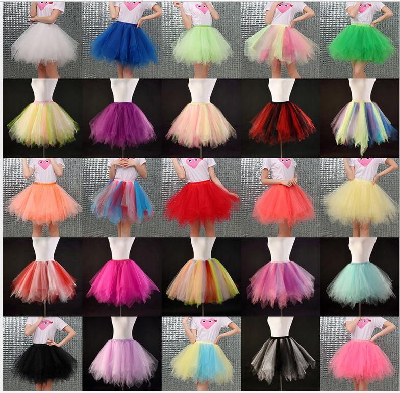 Fluffy Double Layers tutu Skirt Teenage Girl Pettiskirts long tulle Tutu Skirts Women Party Dance Skirt rockabilly petticoat