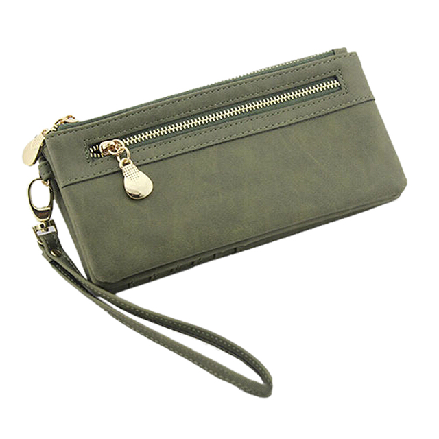 5270ac9182e43a Women Wallets Hot Fashion Multifunctional PU Leather Clutch Lady Purse  Phone bag army green
