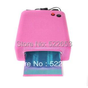 Pink UV Lamp 36W 220-240V Gel Curing Nail Art (EU Plug) with 4pcs 365nm UV Bulb