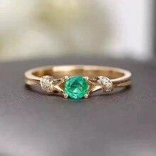Кольцо с натуральным изумрудом, покрытое серебром 925 пробы, натуральный 4*4 мм, кольцо с зеленым драгоценным камнем, классическое, хорошее ювелирное изделие для женщин