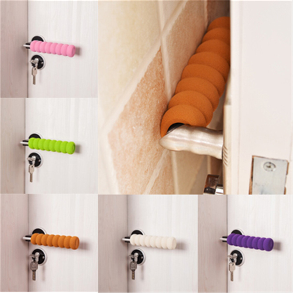 3Pcs /Lot Kids Safety Supplies Room Doorknob Pad Cases Spiral Anti-Collision Security Door Handle Protect Cover Baby Children