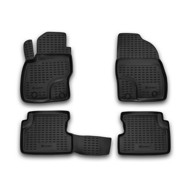 Mats in the salon For FORD Focus II 2004-2011, 4 PCs (polyurethane) mats in the salon for ford escape 2007 3 pcs polyurethane