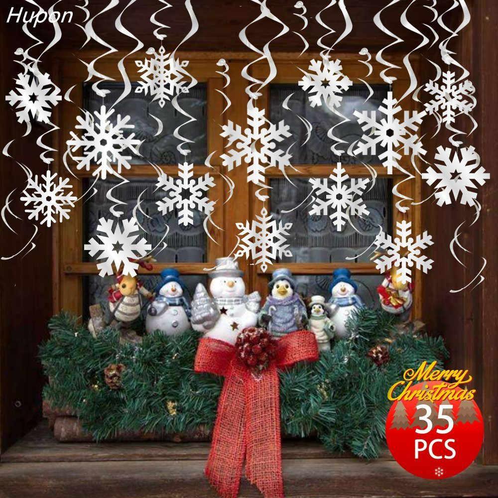Hanging Christmas Decorations Ceiling.30pcs Set Christmas Decorations Cutout Snowflake Ceiling