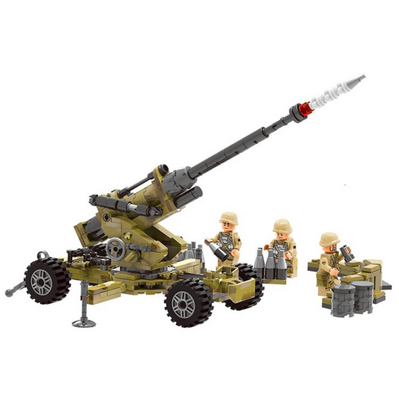 XINGBAO World War Military Army Artillery Mortars Building Blocks Bricks Classic Model Kids For Children Toy Compatible Legoings kazi 82006 world war classical german air force model military building blocks educational toy fw190 fighter plane for kids