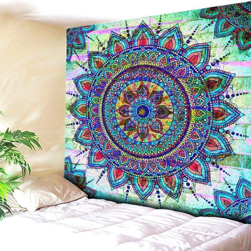 Brick Wall <font><b>Tapestry</b></font> Beach Towel Throw <font><b>Tapestry</b></font> Beach Yaga Bedspread Towel Blanket Rug <font><b>Bohemian</b></font> <font><b>Indian</b></font> Mandala Hanging Carpet
