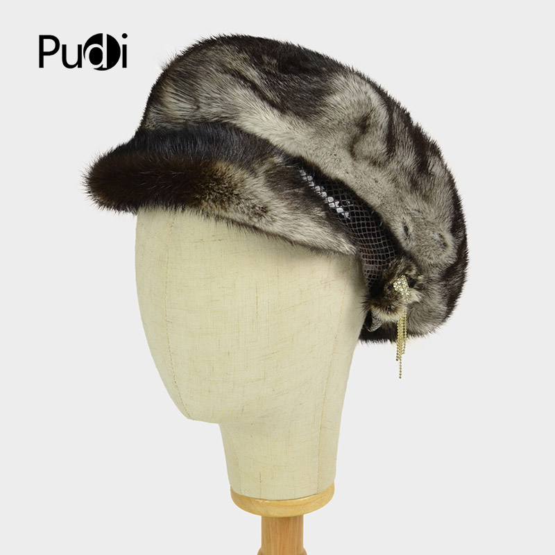 Pudi HF7027 women mink fur hat Brand New Women