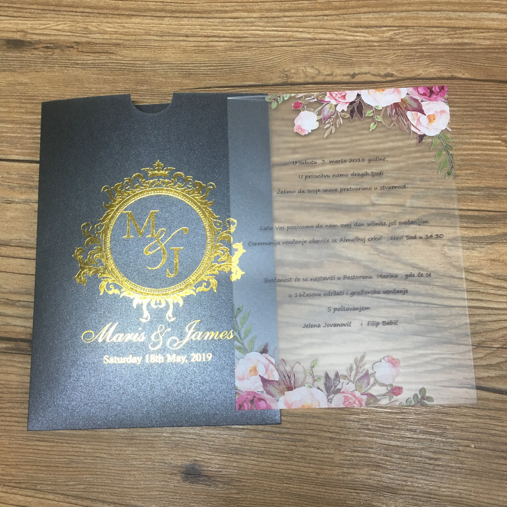 Us 13 0 10pcs Luxury Design Wedding Invitation Card Popular China Wedding Acrylic Card Sample In Cards Invitations From Home Garden On