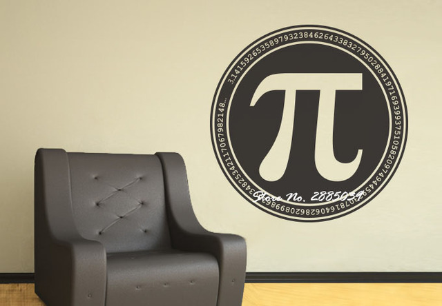 PI Math Lovers Mathematics Symbol Quotes Vinyl Wall Sticker Art Decals  Mural Wallpaper Wall Decal Living Part 74
