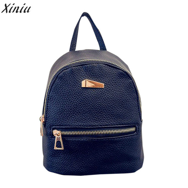 6232e6db6ac2 XINIU Hot Sale Fashion Shell Type Women s Leather Backpack Travel School  Rucksack High Quality Small Backpacks