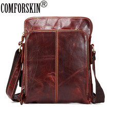 COMFORSKIN Brand Guaranteed 100% Genuine Leather Messenger Bag 2018 New Arrivals Men Large Capacity Style