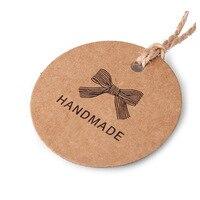 Manuelle handgemachte tag Kraftpapier retro auflistung hand made label spot Großhandel