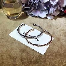 Ruifan European White/Rose Gold 100% 925 Silver Bracelet Ladies Bracelets&Bangles Open Adjustable for Girls YBR042