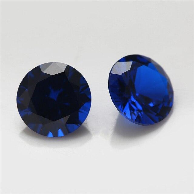 Синтетические шпинельные камни круглой формы с блестящей огранкой